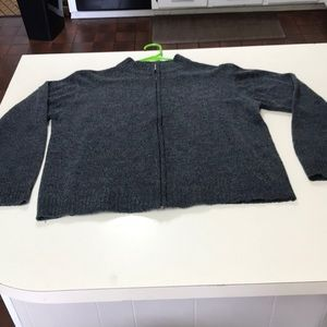 Studio Works full zip sweater. Size L